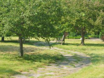 Pretty Park Path by badcherry