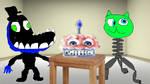 Friends eat demonic cake together by JadeBladeGamer22