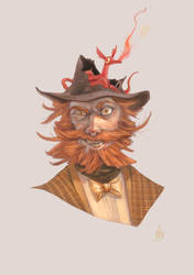 Professor by Bard-the-zombie