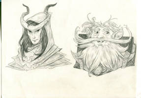 DnD heads2 by Bard-the-zombie