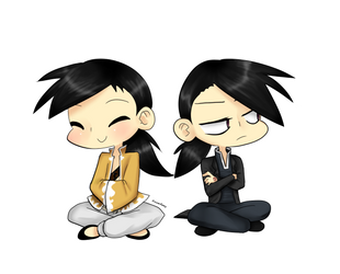 Chibi Ling and Greeling by GlitchPirate