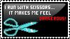 I Run With Scissors Stamp by Sky-Yoshi