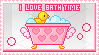 I Love Bath Time Stamp by Sky-Yoshi