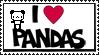 I Love Pandas Stamp by Sky-Yoshi