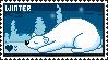 I Love Winter Stamp by Sky-Yoshi