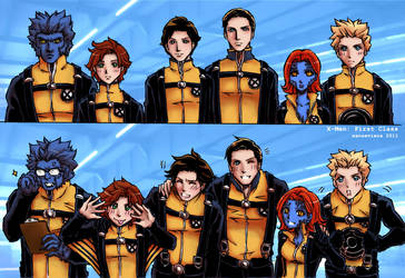 X-Men First Class+Half the man by xanseviera