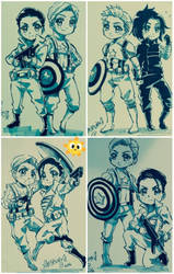 Captain America+chibi commission by xanseviera