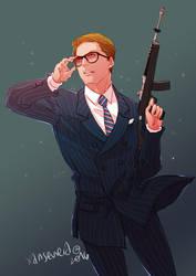 Kingsman the Secret Service + Glasses by xanseviera