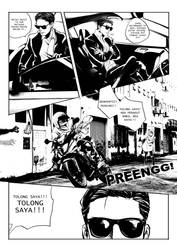 UBER+ comic page tease by xanseviera