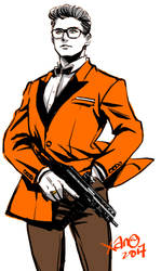 Kingsman:The Golden Circle+Orange Tuxedo by xanseviera