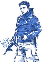 Captain America + Bucky Barnes by xanseviera