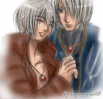 Dante X Vergil+lullaby by xanseviera