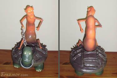 Elf riding a turtle by erez-mor