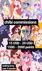 commissions pricelist POINTS/PAYPAL by kirionek