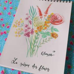 Bunch of flowers by Gloewen-Art