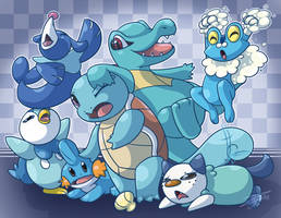 Pokemon . Water Celebration! by Hawkein