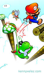 Yoshi falling by SilentKV
