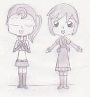 Flora and Meiko by Miel110