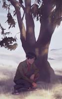 Tree on the Hill by alizawren