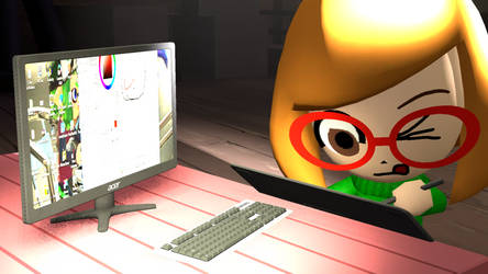 Mii at work by Rickythecool