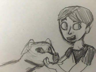 Sim and Dog by Rickythecool