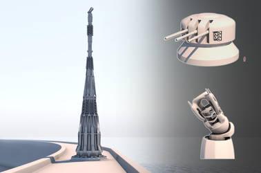 Tsvet military - Planetary Defense Tower by Leonitus