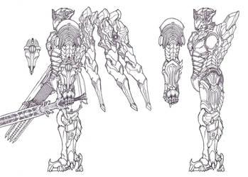 Tsviet Prince NRTO Royal Aeon Battle Suit v3 by Leonitus