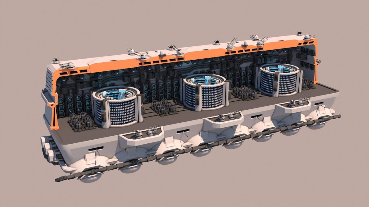 Tsviet military - War Train - CIP Transport (open) by Leonitus