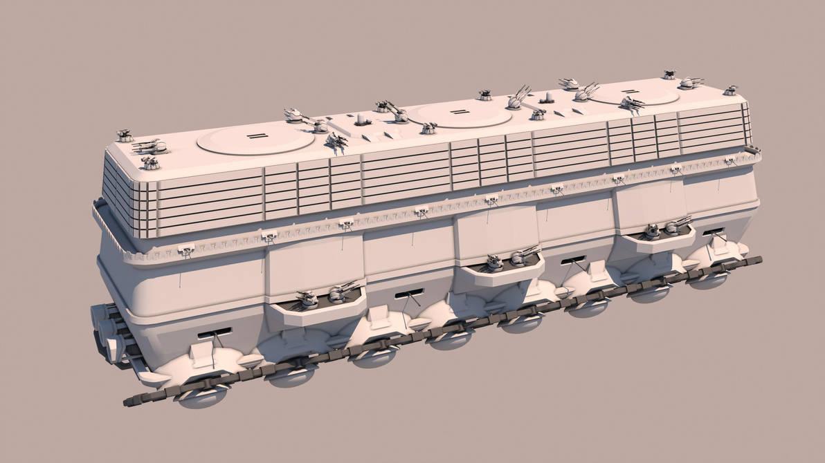 Tsviet military - War Train - CIP Transport (Shut) by Leonitus