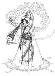 Gypsy Sorceress by doggerman