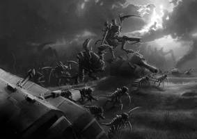 Wh40K: Tyranid Horde Advancing by StugMeister