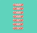 Candy Cane Forum Rank Buttons by DianaGyms