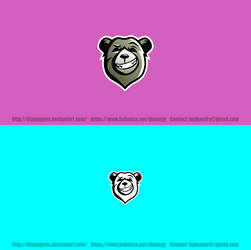 Bear Head Logo by DianaGyms