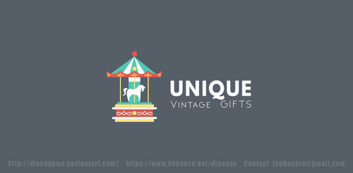 Unique Vintage Shop Logo by DianaGyms