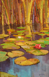 Lilies on the Pond by rooze23