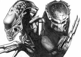 Alien vs Predator by Ajayhehe