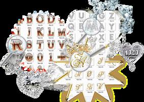 Letras brillantes PNG/bright alphabet png. by Mjzo