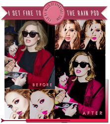 I set fire to the rain PSD. by Mjzo
