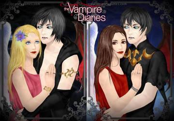 Delena (Novel) and Delena (TV) by LadyRaw90