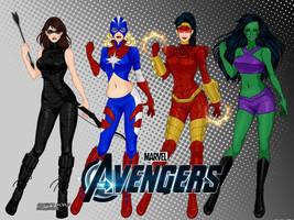 Marvel Lady Avengers by LadyRaw90