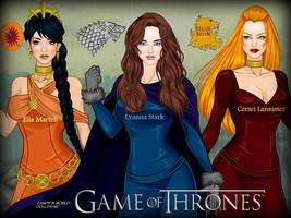 GOT: Elia, Lyanna and Cersai by LadyRaw90
