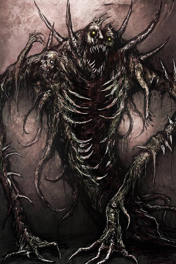 Страх в картинках - Страница 14 Mutant_beast_by_eemeling_d8kij27-pre