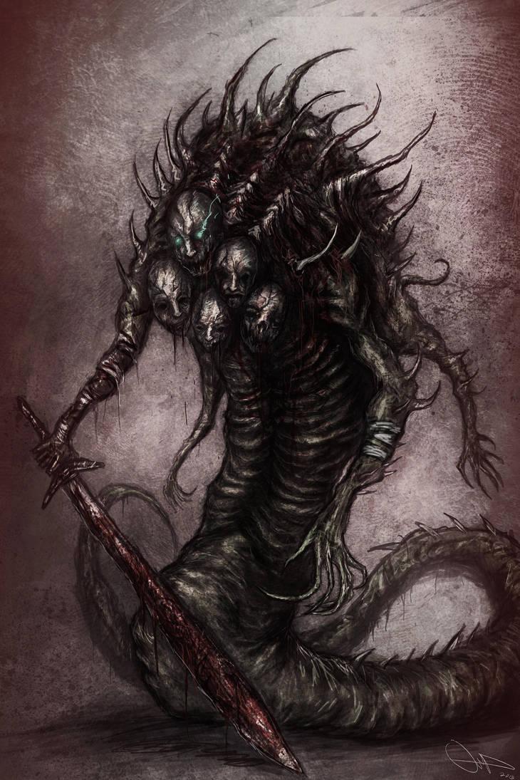 Страх в картинках - Страница 14 Snake_demon_by_eemeling_d8nk9on-pre