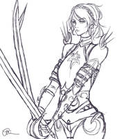 Knight/Paladin Lunafreya Linework by You-Let-Rin-Die