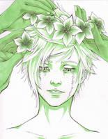 Inktober Day II - Wallflower by You-Let-Rin-Die