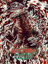 Screenprint: Gojira by milestsang