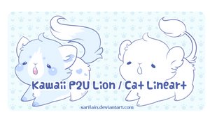 P2U Lion / Cat Lineart by Sarilain