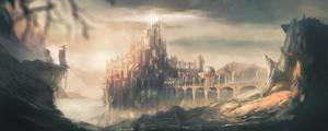 fantasy landscape by ccornet