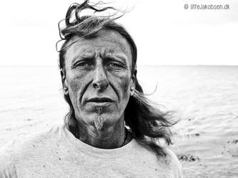 Portrait of Carsten by the Sea by UffeJakobsen