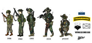 Evolution of the Osean 6th Paramarine Regiment by OSDFTrooper